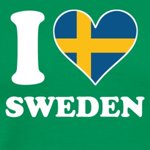 I Love Sweden Swedish Flag Heart - Men's Premium T-Shirt