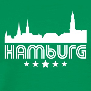 Retro Hamburg Skyline - Men's Premium T-Shirt