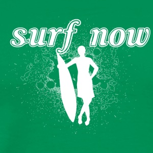 Surfer_girl-02_white - Men's Premium T-Shirt