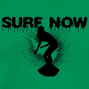 surfer_girl_4_black - Men's Premium T-Shirt