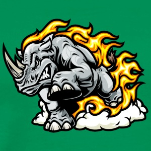 rhinoceros_in_fire - Men's Premium T-Shirt
