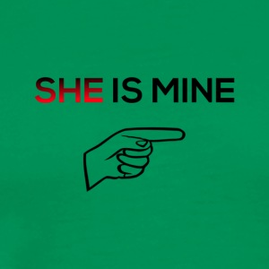 She is mine - Men's Premium T-Shirt