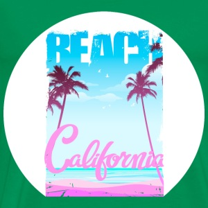 beach-California - Men's Premium T-Shirt