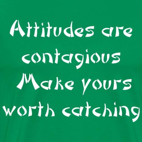 attitude white - Men's Premium T-Shirt