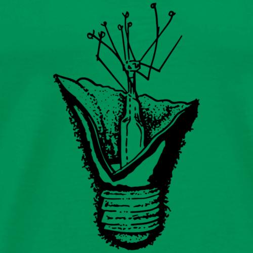 Broken Lightbulb (Black) - Men's Premium T-Shirt