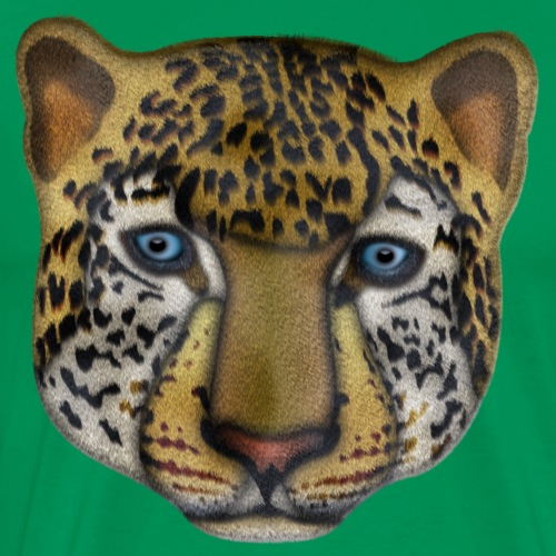 leopard face design illustration - Men's Premium T-Shirt