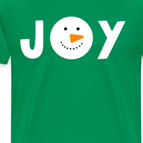JOY - Snowman Christmas Design! - Men's Premium T-Shirt