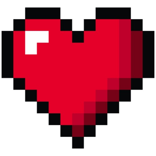 Pixel 8 bit Happy Valentine s Day Heart for Gamers - Men's Premium T-Shirt