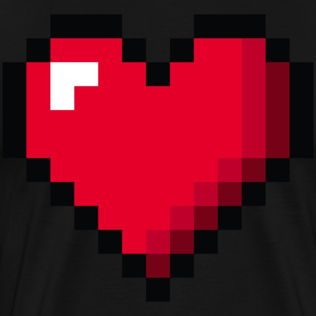 Pixel 8 bit Happy Valentine s Day Heart for Gamers