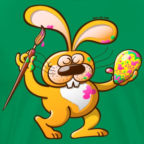 Easter Bunny Painting an Egg - Men's Premium T-Shirt