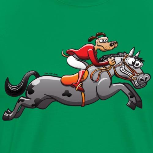 Olympic Equestrian Jumping Dog - Men's Premium T-Shirt
