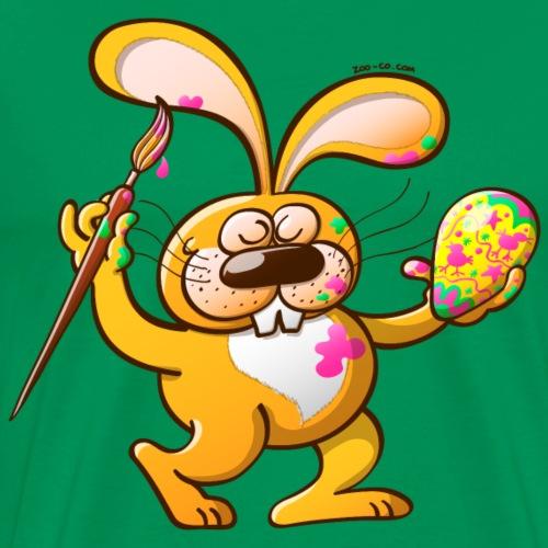 Easter Bunny Painting an Egg - Men's Premium T-Shirt