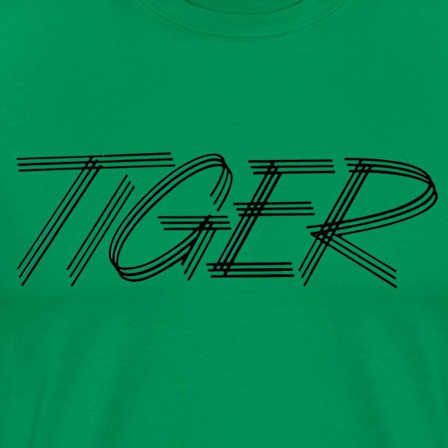 tiger script logo copy black png