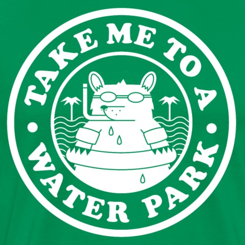 Water Park Bear White png - Men's Premium T-Shirt