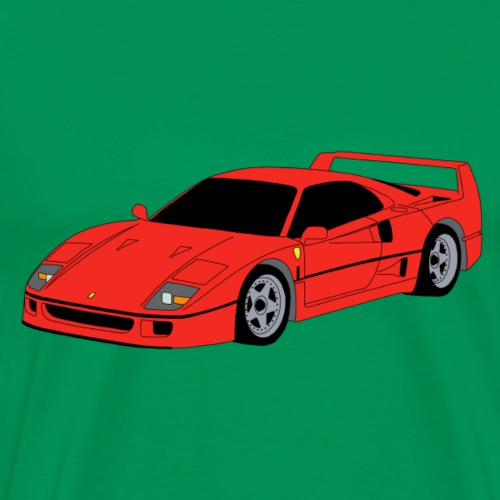 Supercar F40 red - Men's Premium T-Shirt