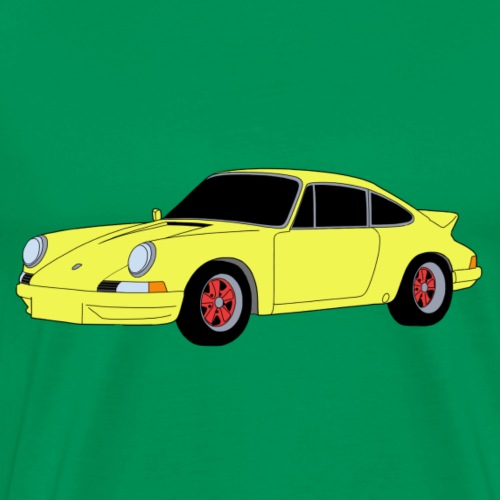 Sports Car 911 RS 2.7 yellow - Men's Premium T-Shirt