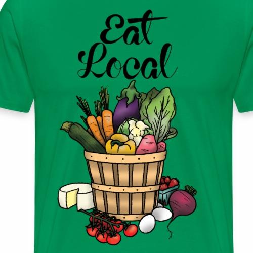Eat Local- Black - Men's Premium T-Shirt