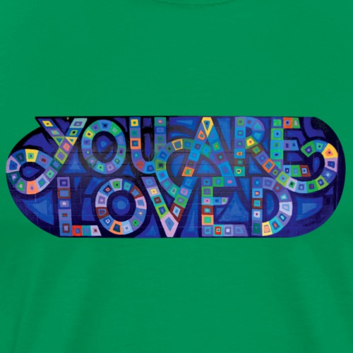 YOU ARE LOVED - Blue Swoops - Men's Premium T-Shirt