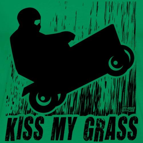Lawnmower Race Kiss Grass - Men's Premium T-Shirt