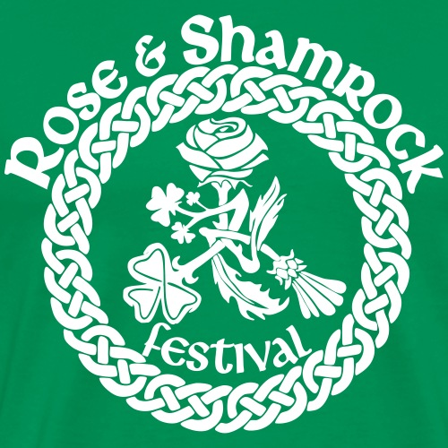 Rose and Shamrock One Color - Men's Premium T-Shirt