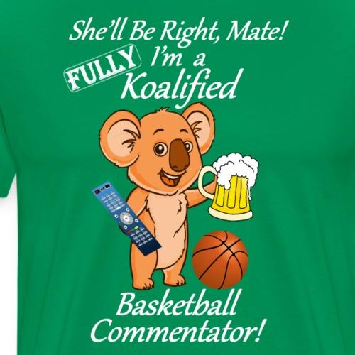 Basketball Commentator White Lettering - Men's Premium T-Shirt