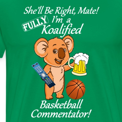 Basketball Commentator White Lettering - Men's Premium T-Shirt