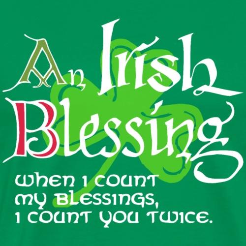 An Irish Blessing (dark) - Men's Premium T-Shirt