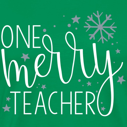 One Merry Teacher Christmas Teacher T-Shirt - Men's Premium T-Shirt