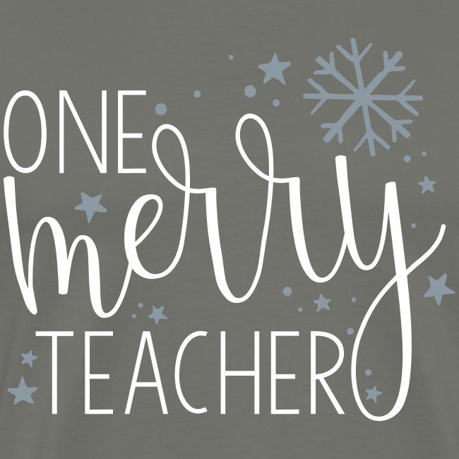 One Merry Teacher Christmas Teacher T-Shirt