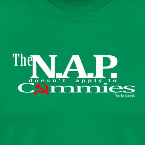 NAP so to speak white libertarian - Men's Premium T-Shirt
