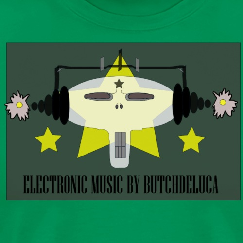 Butch DeLuca Music Skull w/ Headphones - Men's Premium T-Shirt