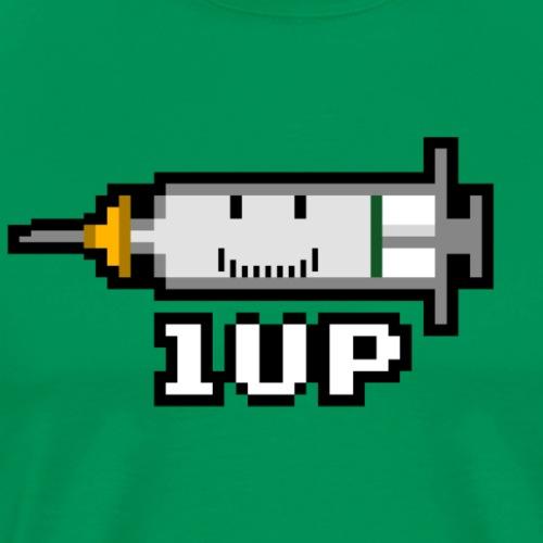8-bit Vaccine 1UP - Pro Vaccination for COVID-19 - Men's Premium T-Shirt