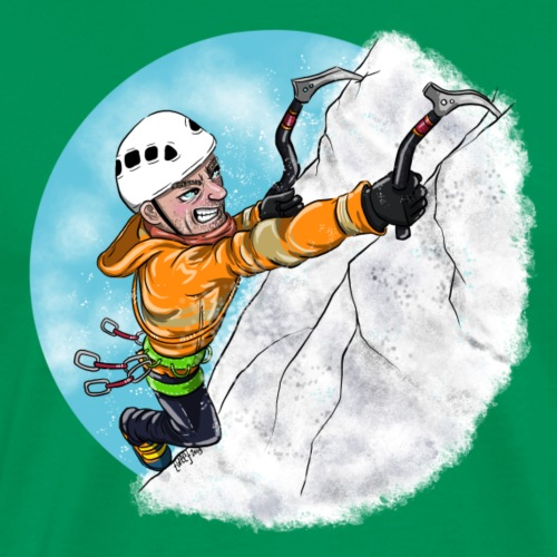 Ice Climber Man - Men's Premium T-Shirt