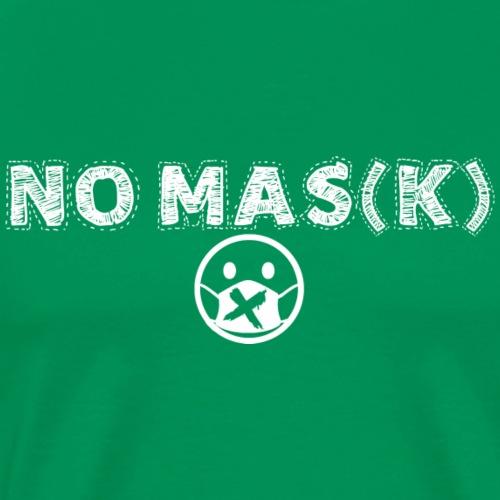 NO MAS(K) white - Men's Premium T-Shirt