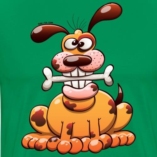 Dog Posing with a Bone - Men's Premium T-Shirt