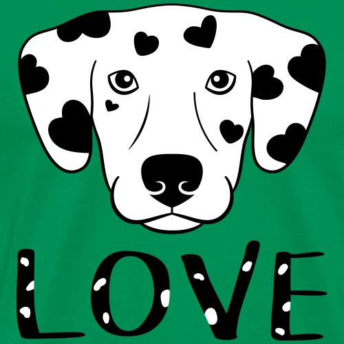 Dog Love - Spotted Dog - Men's Premium T-Shirt