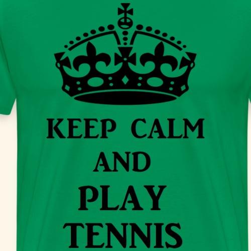 keep calm play tennis blk - Men's Premium T-Shirt