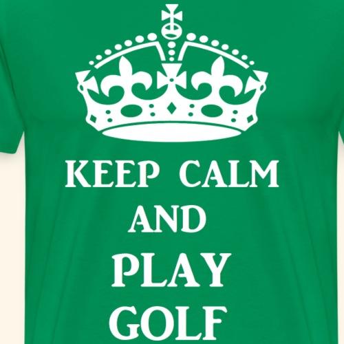keep calm play golf wht - Men's Premium T-Shirt