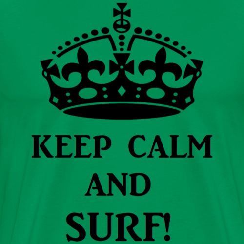 keep calm surf blk - Men's Premium T-Shirt