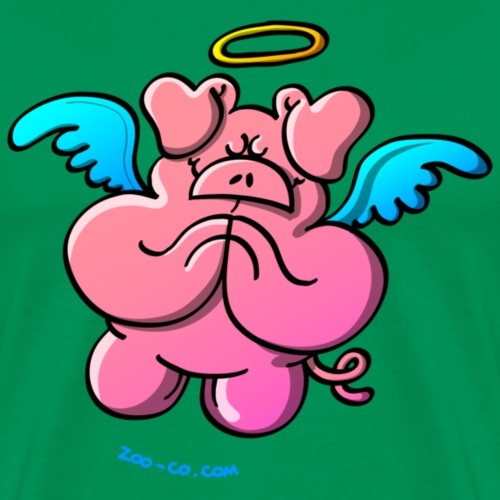 Pig Angel Praying - Men's Premium T-Shirt