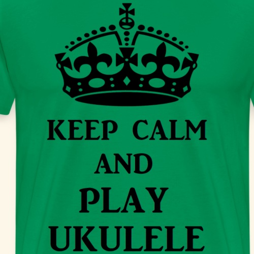 keep calm play ukulele bl - Men's Premium T-Shirt