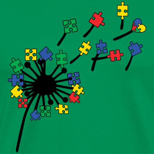 Autism Awareness Dandelion - Men's Premium T-Shirt