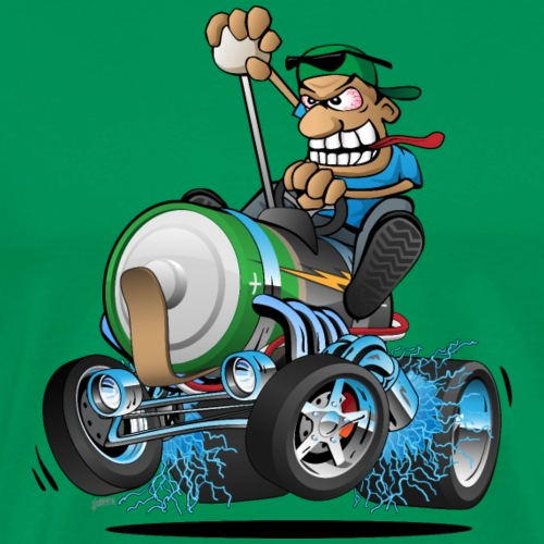 Hot Rod Electric Car Cartoon - Men's Premium T-Shirt