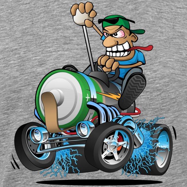 Hot Rod Electric Car Cartoon