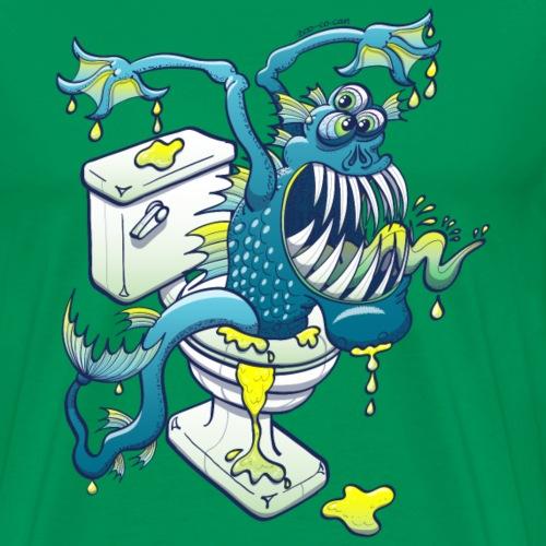 Toilet Monster - Men's Premium T-Shirt