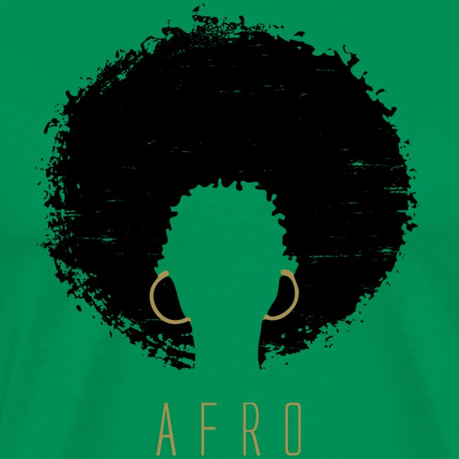 Black Afro American Latina Natural Hair