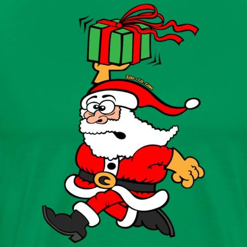 Santa Claus in a Hurry - Men's Premium T-Shirt