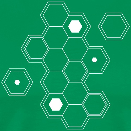gamer,dnd dungeons and dragons,board game,hexagon, - Men's Premium T-Shirt