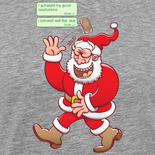 Santa laughs out loud at fake good behavior texts