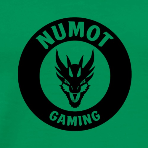 Numot Gaming Logo - Black on White - Men's Premium T-Shirt